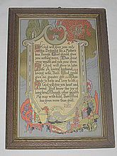 The 'Gift' of Life - Lg Inspirational  Gibson Art Company Motto Print / Masonic Poet: Brother Douglas Malloch
