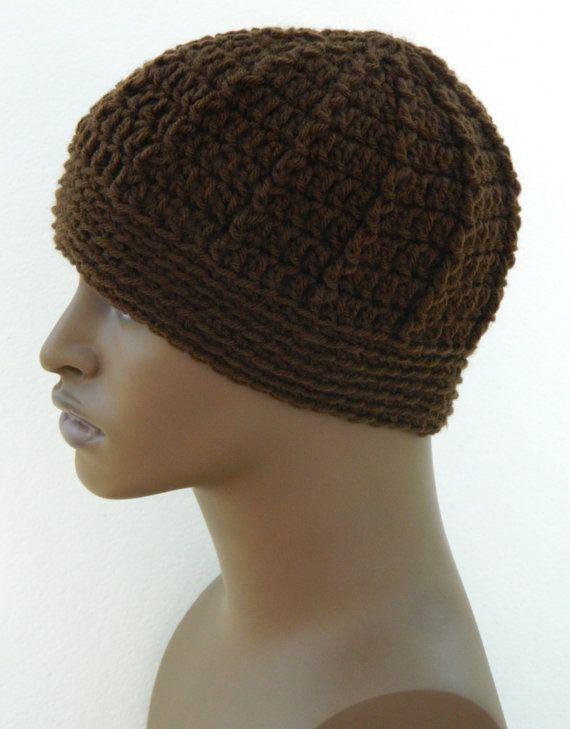 Men's Winter Beanie  Warm Winter Hats Teen Boys Beanie Hat In Cocoa Brown.  Thursday's Handmade Love Week 85 ~ Theme - Mens Winter Hats ~ Crochet Addict UK http://www.crochetaddictuk.com/2013/11/thursday-handmade-love-week-85.html