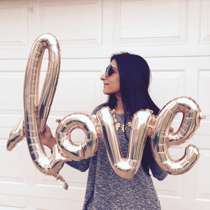 """Ligaduras Amor Foil Balloons 40 """"Globos de Oro Rosa Amor Globos Decoración de La Boda Ideas-Despedida de Soltera Despedida de Soltera"""