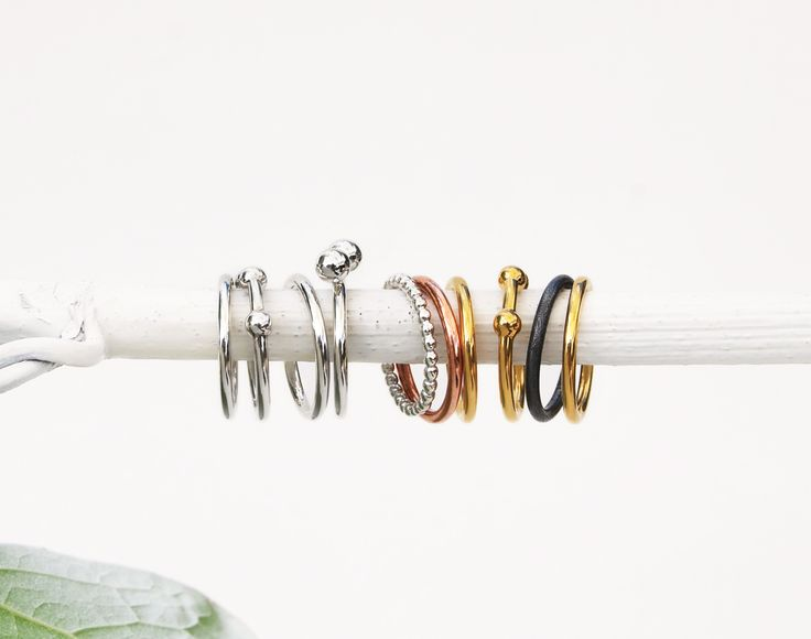 Stacking rings! Create a unique combo. Design by Mila Silver.  Swedish design | World Wide Shipping