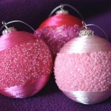 Beaded Christmas Ornaments ... very cool!
