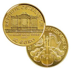 Austrian Philharmonic 1/10 Ounce Gold Coin, 999.9 (Our Dates). Best offer in bullion and gold and silver investment market.