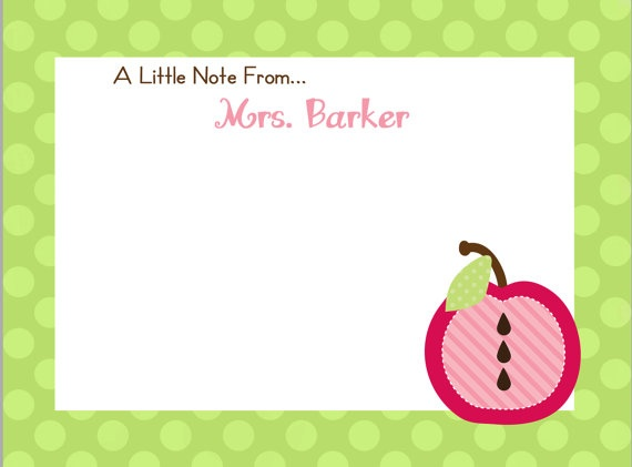 teacher appreciation -- customizable teacher thank you, welcome to my class, a little note from -- diy printable notecard
