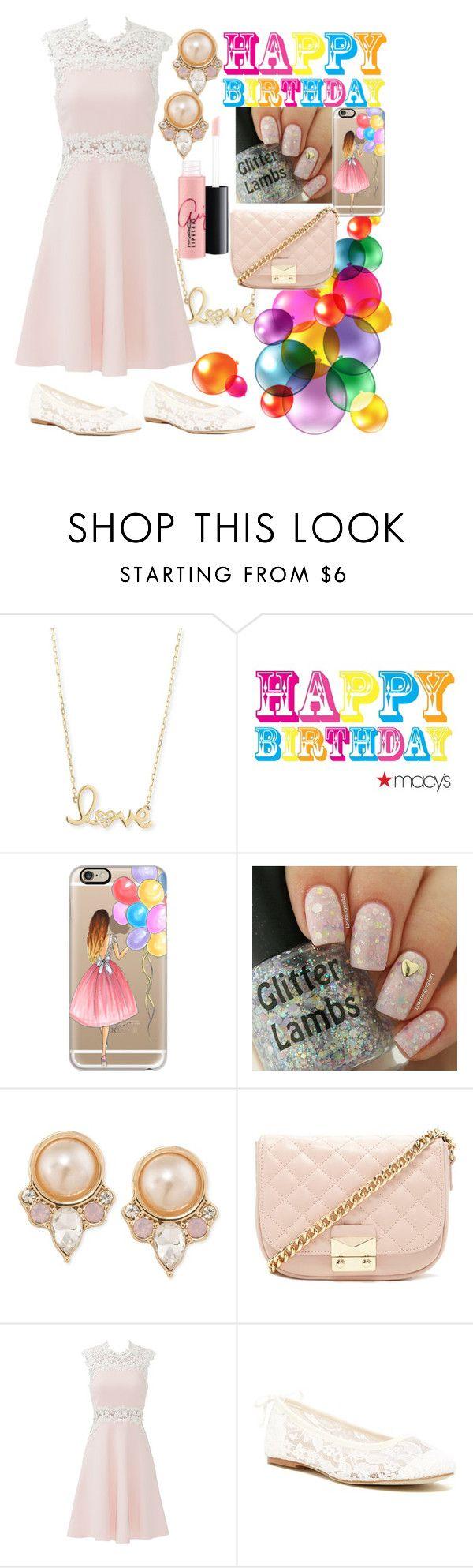 """It's My Birthday!!!"" by unicorn-mc-rainbow ❤ liked on Polyvore featuring Sydney Evan, Casetify, Carolee, Forever 21, Giambattista Valli, Soludos and MAC Cosmetics"