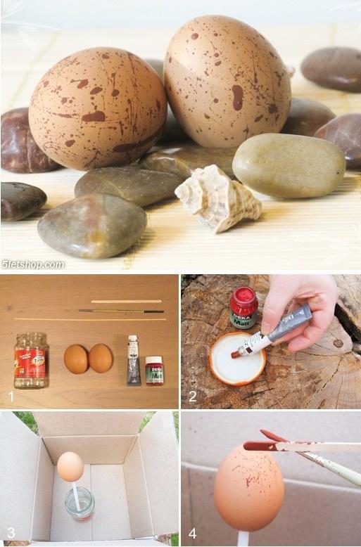 Spring decoration – DIY Bird Eggs (Tavaszi dekoráció – SK madártojás)