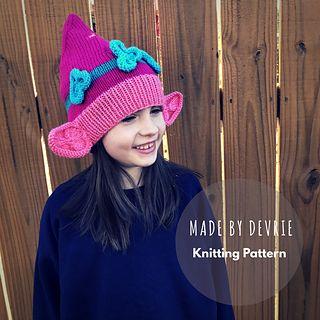Poppy Troll Hat pattern by MadeByDevrie