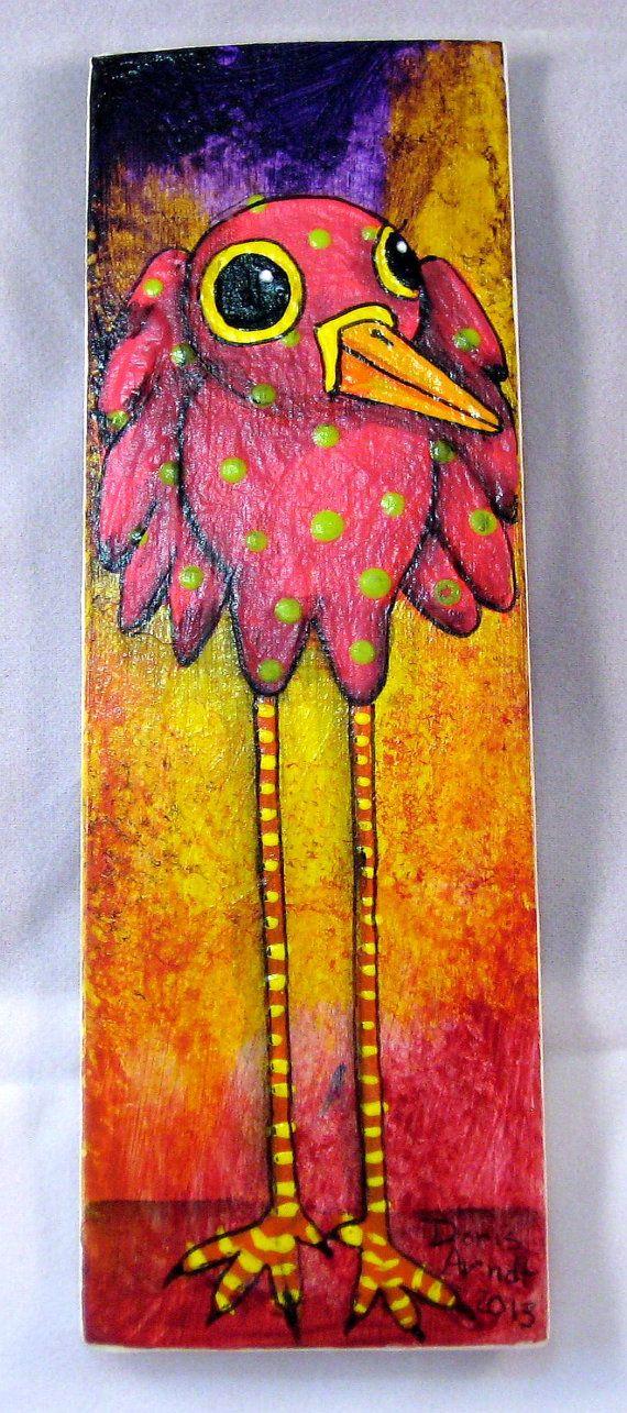 Pink Whimsical Bird