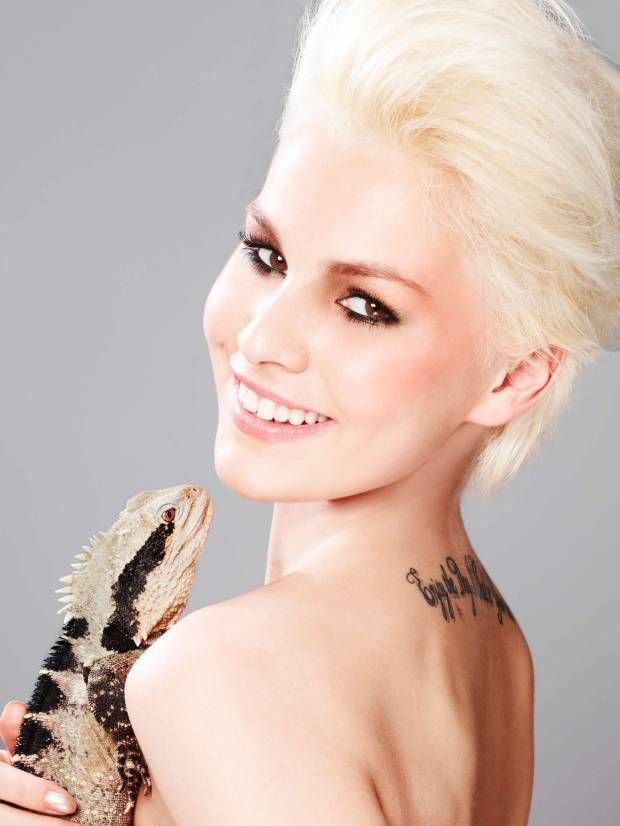 Makeup and Reptiles | Beauty shoot for episode 5 of GNTM.