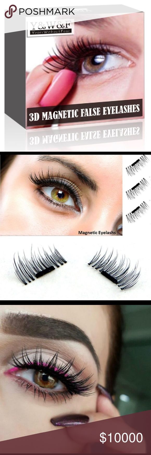 pre orders only 3d magnetic false eye lashes nwt