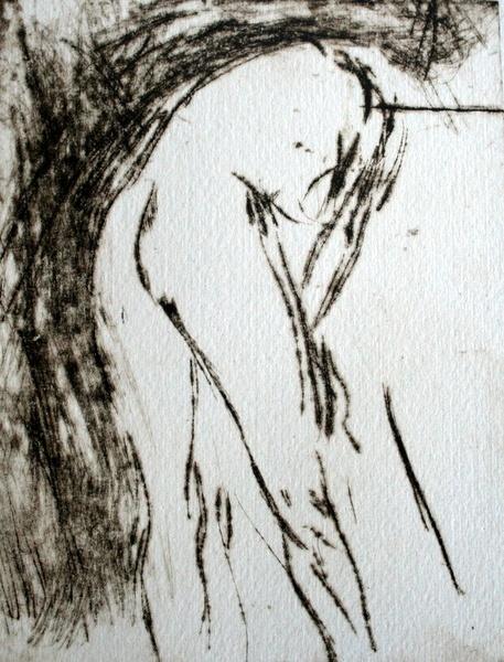 Nude bending: perspex etching