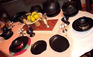 La Chamba Cookware and I like the creative clay cooking site.