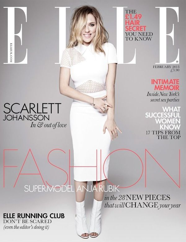 Scarlett Johansson Covers ELLE UK February 2013