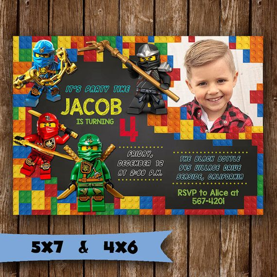 The 25 best Lego birthday invitations ideas – Lego Birthday Invite