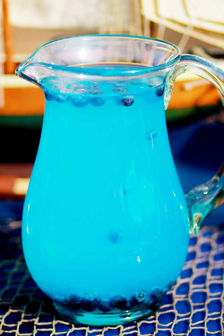 Blue Lemonade with Frozen Blueberries