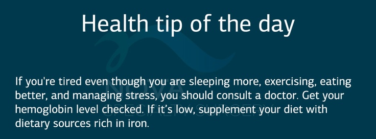 Health tip of the day: Check your hemoglobin level in case if constant  tiredness.