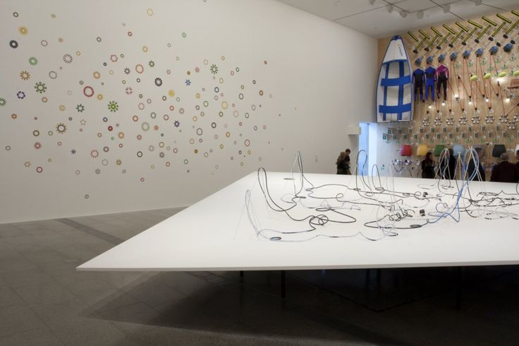 Daniel von Sturmer 'Paradise park' 2013 (detail) with Elizabeth Gower's '150…