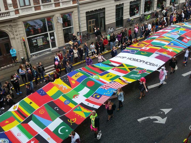 Copenhagen Pride 2014 - Stop Homophobia banner.