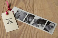 Invitation - can also be used as an invitation to wedding with pictures of the couple
