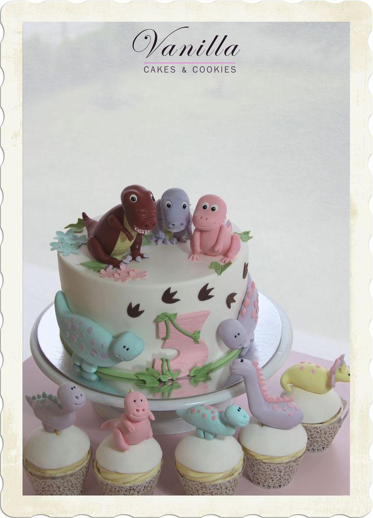 Trex Pastası, Trex family Cake, Trex Cake&Cupcakes, Trex Cupcake'leri, Dinozor Pasta, Dinozor Ailesi Pastası