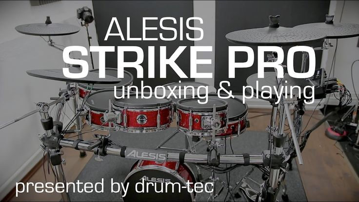 Alesis Strike Pro electronic drums unboxing // setup // playing with drum-tec - YouTube