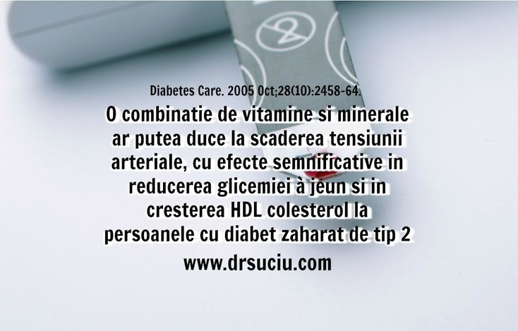 Photo Beneficiile vitaminelor si mineralelor in diabetul de tip 2 - drsuciu