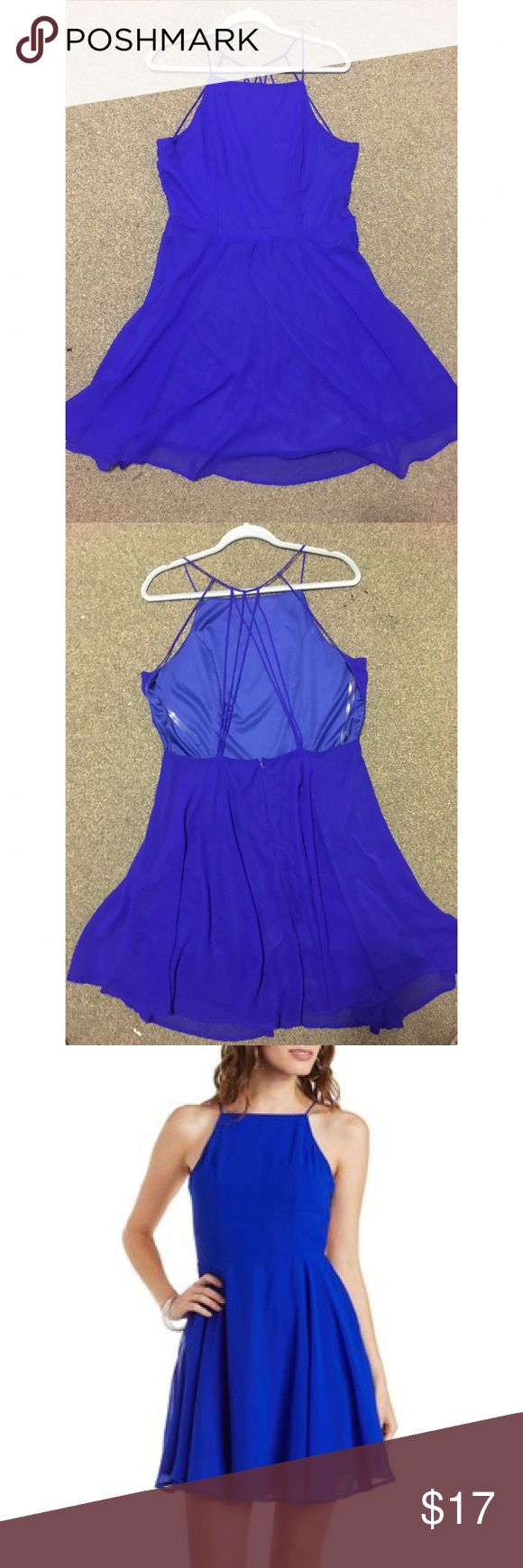 Charlotte Russe Electric Blue Dress Super cute electric blue open back dress, perfect for spring/summer! Charlotte Russe Dresses Mini