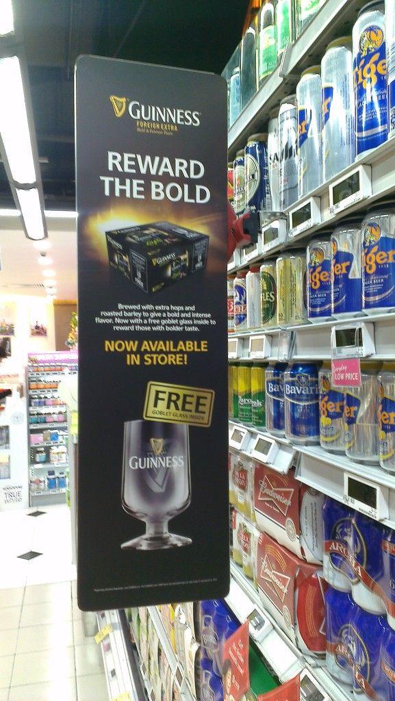 Guinness Foreign Extra Shelf Banner