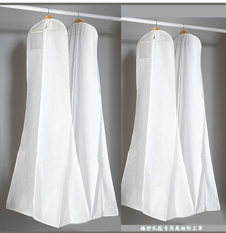 Non-Woven Fabric & Plastic Wedding Dresses Garment Dust Proof Cover Bags Storage Bags For Clothes
