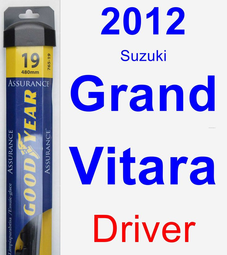 Driver Wiper Blade for 2012 Suzuki Grand Vitara - Assurance