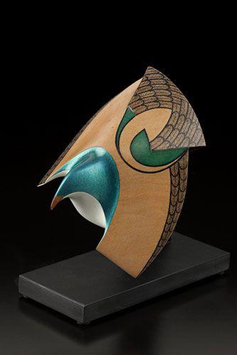 Kererū • Wood Pigeon in Flight by Rex Homan, Māori artist (KR150507)
