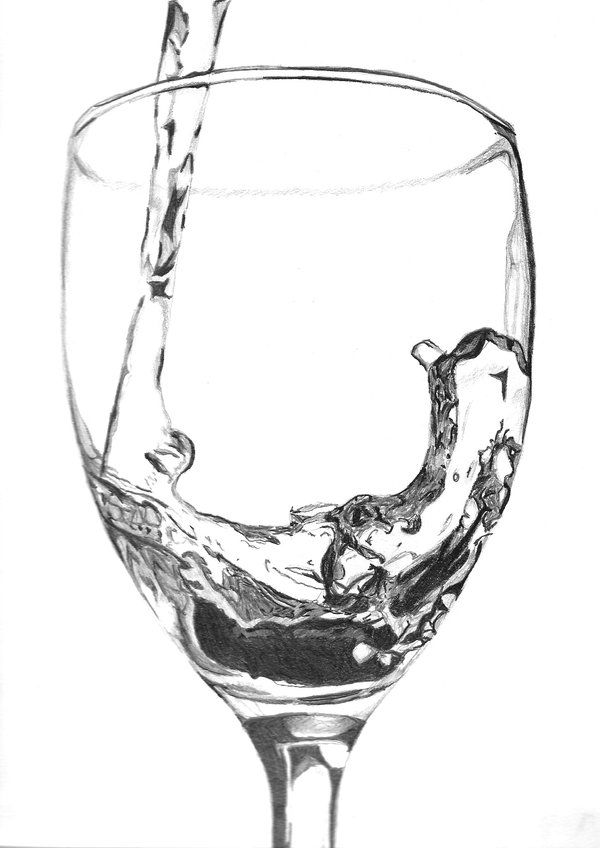 how to draw a wine glass step by step