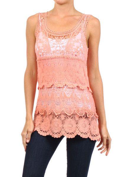 Delusive Heartbreaker Crochet Top