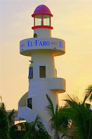 """""""El Faro hotel, at the beach of Playa del Carmen, Mexico"""