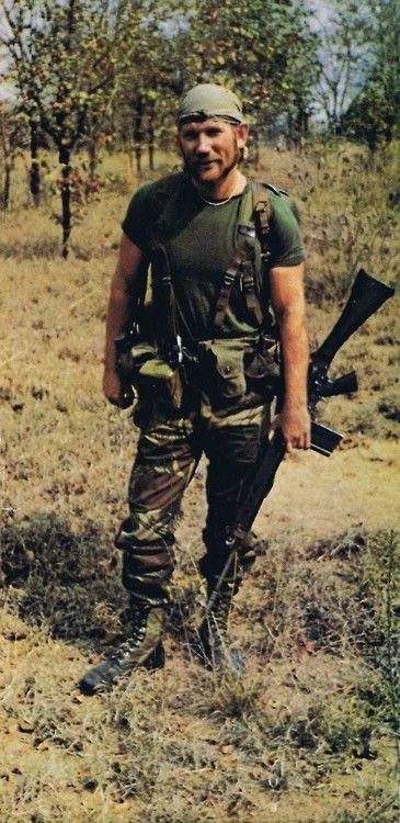 Rhodesian Soldier during the Bush War, 1970s.