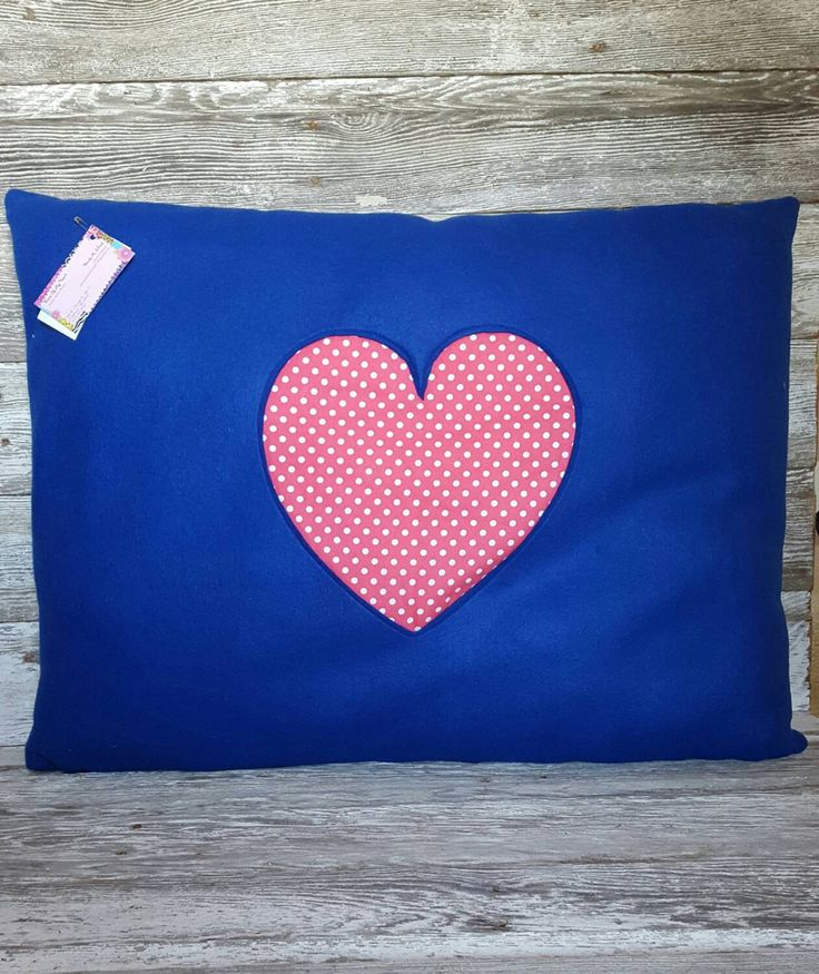 Large Decorative Pillows Floor : Polka Dot Large Floor Pillow - Heart - Pink - Royal Blue - Floor Cushion - Throw Pillow ...