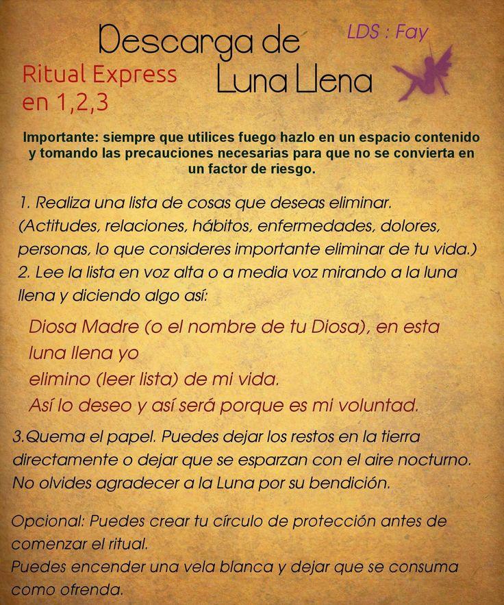 Ritual sencillo para practicar durante la luna llena.