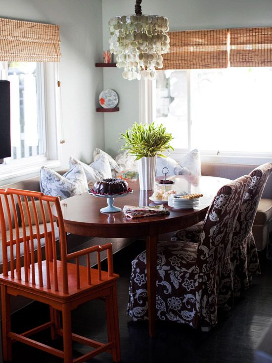 Eclectic Casual Chic Family Friendly Banquette