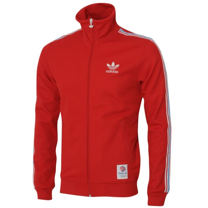 """Adidas Originals Team GB Olympic Track Top. I've got the blue version, but both it and the red pictured have completely sold out! Glad I picked up one when I did, it's a classic simple Adidas track top with """"Great Britain"""" stitched on the back."""