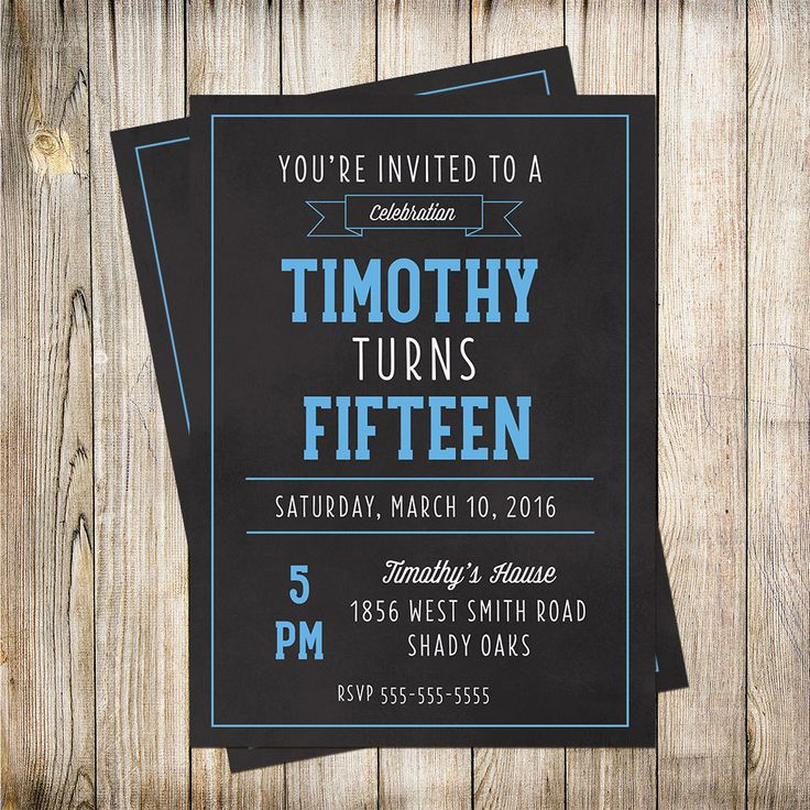 Teen Boys Birthday Invitation, Birthday Invitation, Boys Invitation, Kid Invitation Printable Invites by PaperLimeDesigns on Etsy