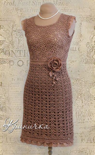 vestido do croche   Lindos vestidos em croche tirados da net