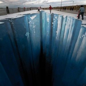 Huge Ice, The Crevasse - 3D Street Art