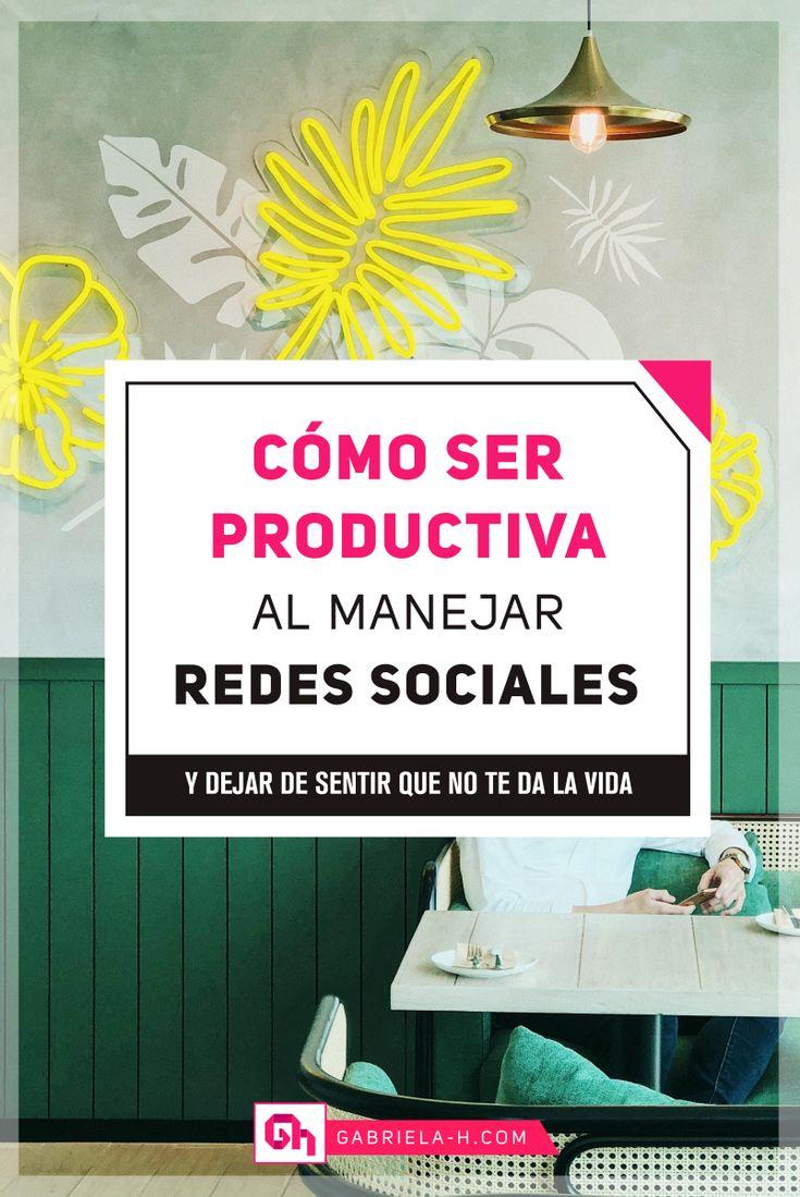 SER PRODUCTIVA EN REDES SOCIALES #productividad #organizacion #redessociales Lead Generation, La Red, Start Ups, Project Management, Instagram, Projects, Tips, Youtube, Socialism
