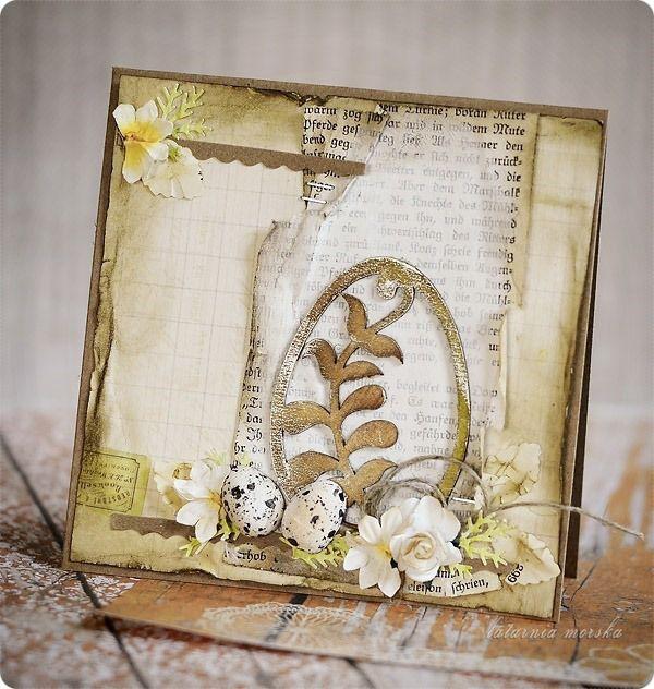 tekturowe wycinanki i papierowe kwiatki na kartkach Wielkanocnych  http://www.hurt.scrap.com.pl/wielkanocne-jajka-tekturowe-pisanki-5szt.html