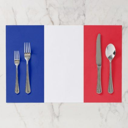 Tearaway placemat with Flag of France - kitchen gifts diy ideas decor special unique individual customized