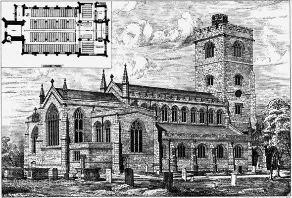 1880 - New Church of All Saints, Fulham, London - Archiseek.com