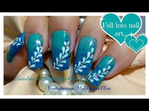 62 best blue nail art designs tutorials and ideas images on ombre nail art for beginners blue gradient nails floral nail design http prinsesfo Images
