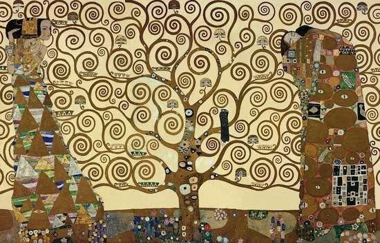 L'arbre de vie, par Gustav Klimt - 1905-1909  Fresque murale  Palais Stoclet, Bruxelles, Belgique