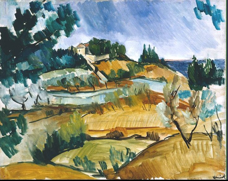 Maurice de Vlaminck (French, 1876-1958), Landscape near Martigues, 1913. Oil on canvas,  651 x 819 mm.