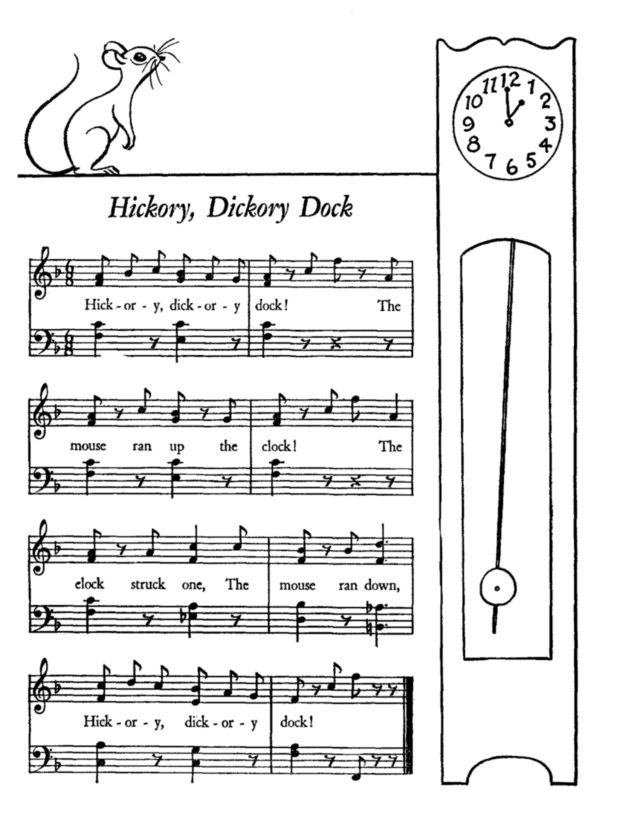 find this pin and more on coloring pages nursery rhyme time with hickory dickory dock