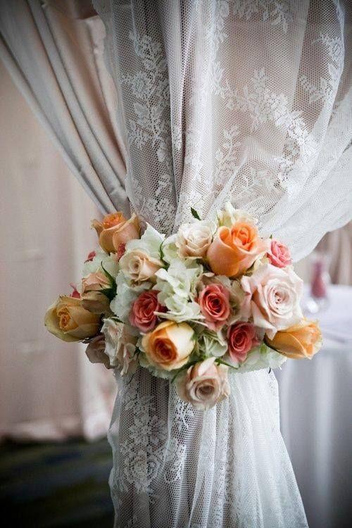29 Best Floral Tie Backs Wedding Images On Pinterest